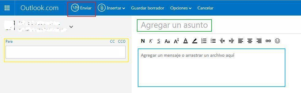 Enviar correo electrónico con Hotmail