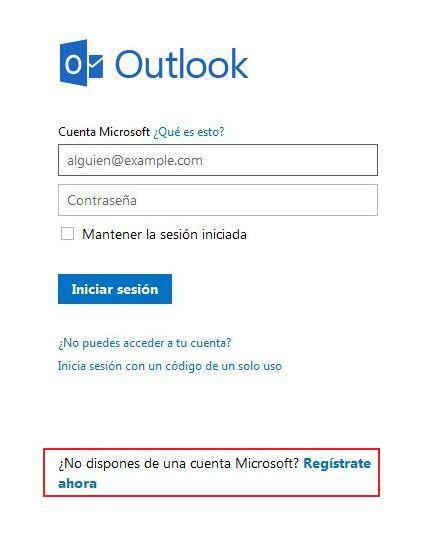 crear una cuenta de correo electrónico en hotmail