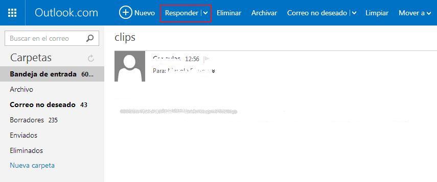 Responder y reenviar en Hotmail