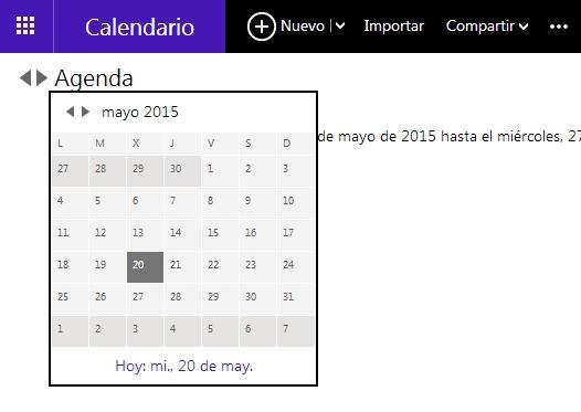 calendario de hotmail
