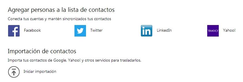 conectar redes sociales con hotmail