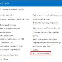 configurar_acciones_instantaneas en hotmail