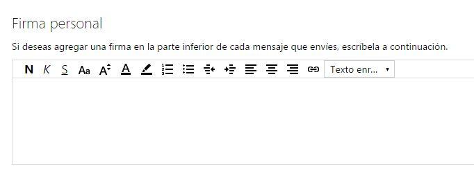 configurar_formato fuente y firma en hotmail