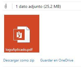 guardar archivo adjunto en Onedrive con Hotmail