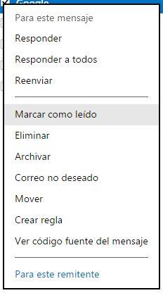 marcar_como_leido en hotmail