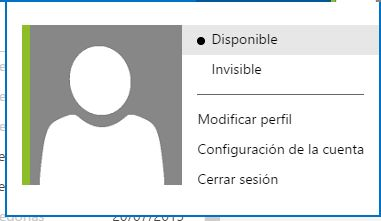mostrar_como_disponible o invisible en hotmail
